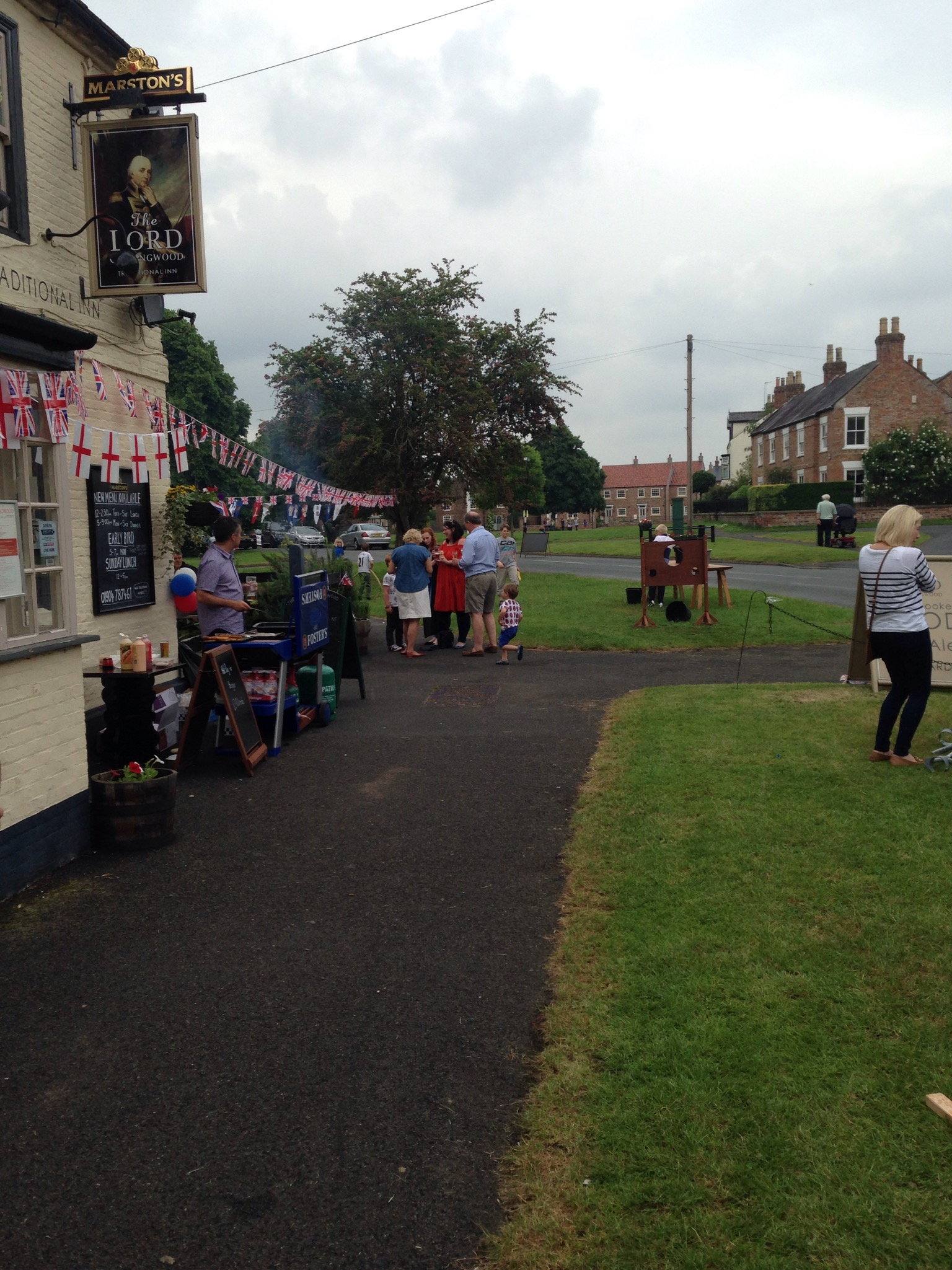 The Queens birthday celebrations street party